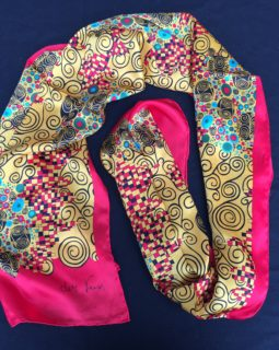 klimt shawl red circles 5